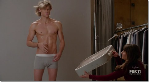 chord overstreet shirtless glee